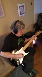 Paul playing a strat